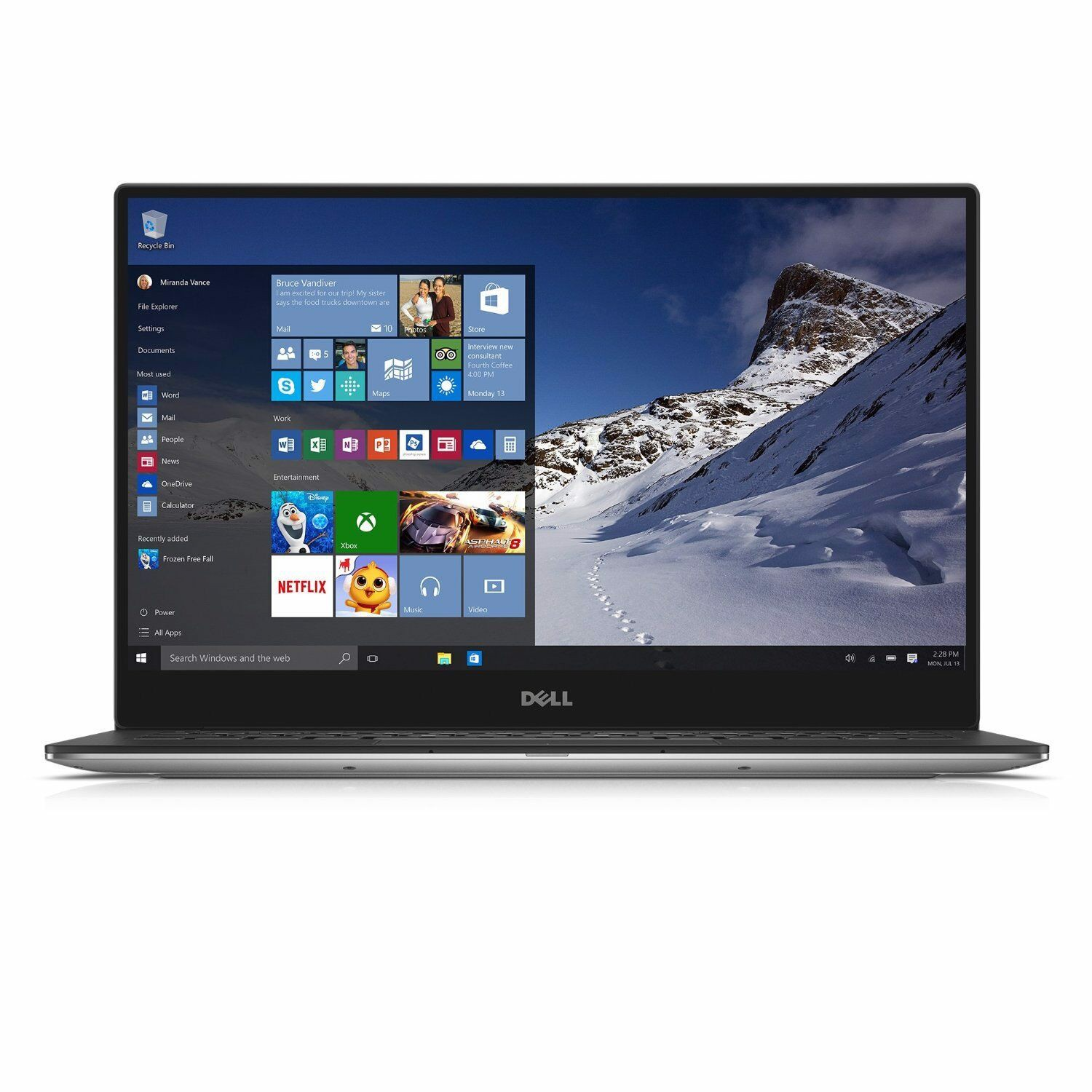 DELL XPS 9343 Core I7 8GB RAM  256GB SSD 3K TOUCH
