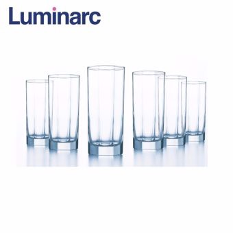 Bộ 6 ly thủy tinh cao Luminarc Octime 330ml D9563 (Trong suốt)