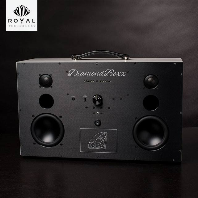DiamondBoxx  MODEL L - DURATEX BLACK W/ BLACK ANODIZED FACE