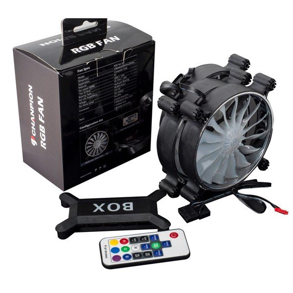 FAN CASE CHANPION INNER GLOW RGB FAN KIT 3PCS (REMOTE)