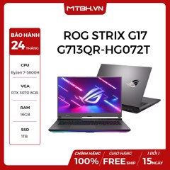 LAPTOP GAMING ASUS ROG STRIX G17 G713QR-HG072T RYZEN 7-5800H | RTX 3070 8GB | 16GB RAM | 1TB SSD | 17.3″ 300HZ IPS | PERKEY RGB WIN 10 ECLIPSE GRA