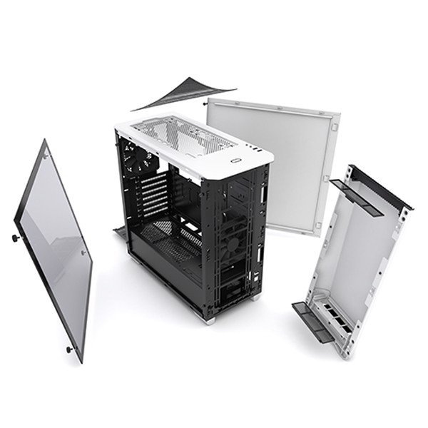 CASE PHANTEKS ECLIPSE P400 WHITE TEMPERED GLASS
