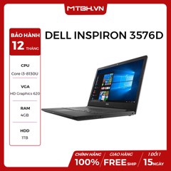 LAPTOP DELL INSPIRON 3576D I3 8130U 4GB DDR4 1TB HDD /Intel HD Graphics 620 15.6' WIN 10