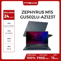 LAPTOP ASUS ROG ZEPHYRUS M15 GU502LU-AZ123T GEFORCE GTX 1660TI 6GB INTEL CORE I7 10750H 16GB 512GB 15.6″ FHD IPS 240HZ 3MS PERKEY RGB WIN 10