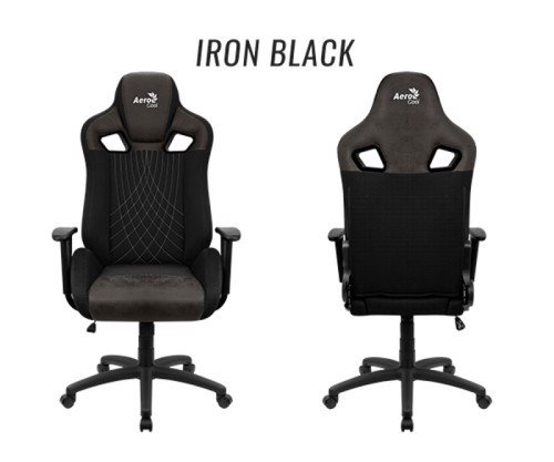 GHẾ AEROCOOL GAMING CHAIR EARL Iron Black / Race-Cushion-V1