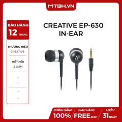 TAI NGHE CREATIVE EP-630 IN-EAR BLACK
