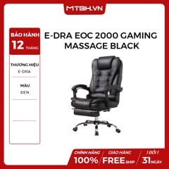 GHẾ E-DRA EOC 2000 GAMING MASSAGE BLACK