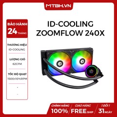 TẢN NHIỆT NƯỚC ID-COOLING ZOOMFLOW 240X (Addressable RGB, RF Remote Control RGB SYNC With motherboard/ RGB Water Cooler 240mm PWM)