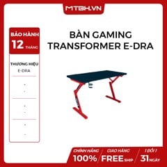 BÀN GAMING TRANSFORMER E-DRA RED