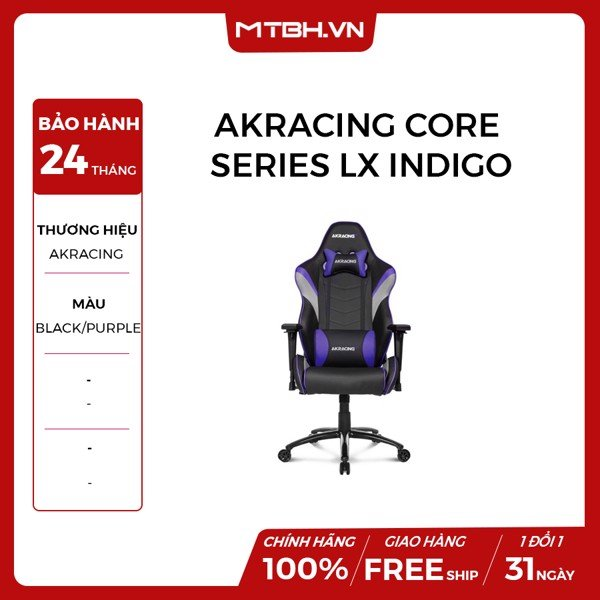 GHẾ AKRACING CORE SERIES LX GAMING INDIGO