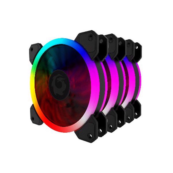 FAN CASE FORGAME GLAZE RGB FAN KIT 3PCS (HUB+REMOTE)