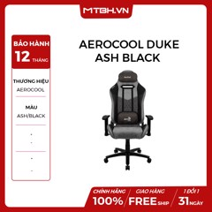 GHẾ AEROCOOL GAMING CHAIR DUKE - ASH BLACK
