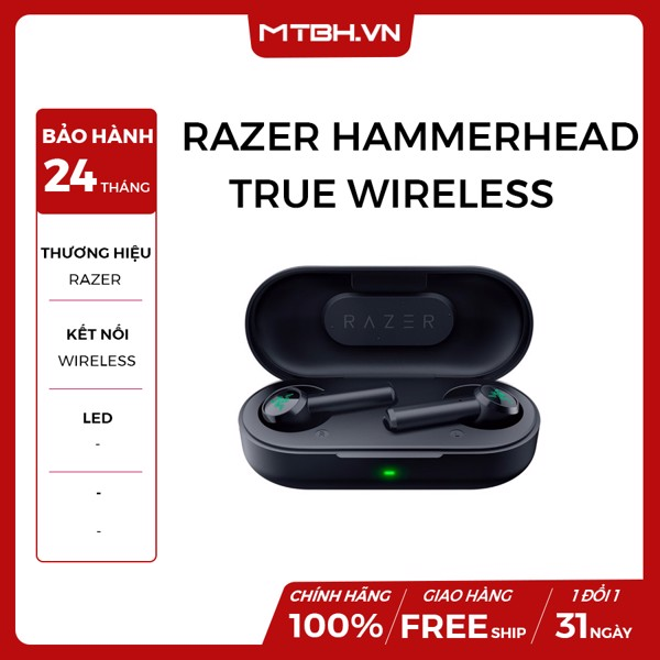 TAI NGHE RAZER HAMMERHEAD TRUE WIRELESS EARBUDS