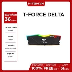 RAM DDR4 8GB TEAM T-FORCE DELTA BUSS 3000 RGB (BLACK)