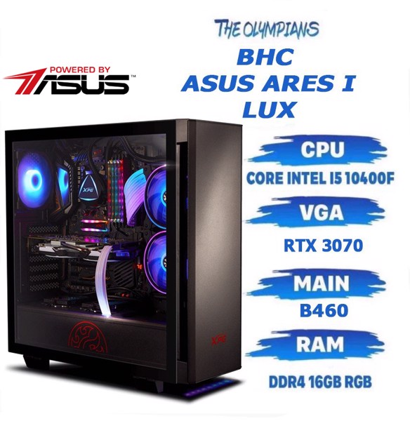 BHC ASUS ARES I- LUX (i5 10400F/16GB/512GB/ RTX 3070) GEN 10