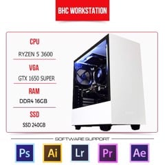 PC WORKSTATION BHC STUDIO 01 ( RYZEN 5 3600/ 16GB/240GB/ GTX 1650 SUPER)