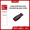 USB SANDISK 8GB CRUZER BLADE CZ50 NEW BH 24TH