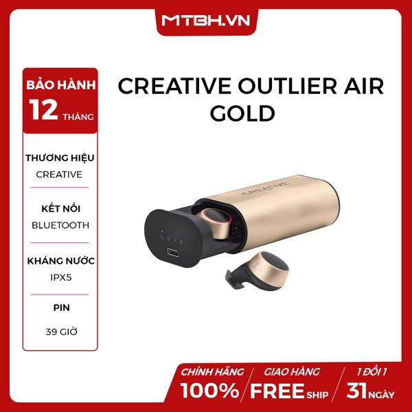 TAI NGHE CREATIVE OUTLIER GOLD BLUETOOTH 5.0