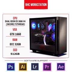 PC WORKSTATION  BHC STUDIO 08 (DUAL XEON E5 2686V4 /32GB/512GB/GTX 1660)