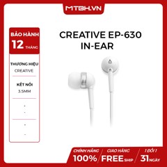 TAI NGHE CREATIVE EP-630 IN-EAR WHITE