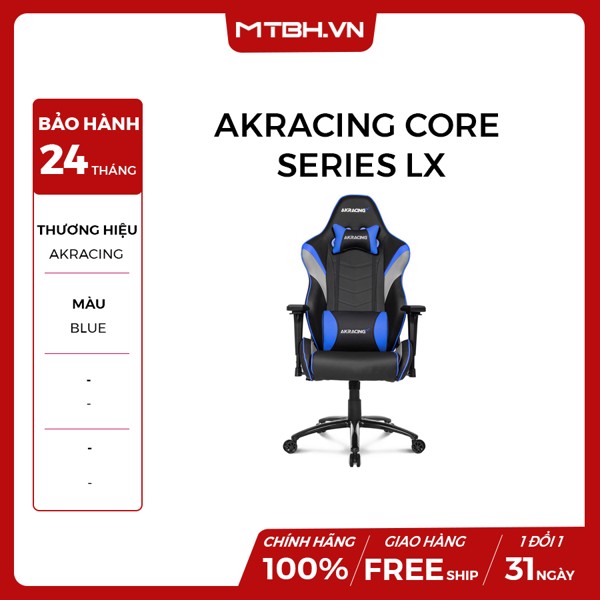 GHẾ AKRACING CORE SERIES LX GAMING BLUE