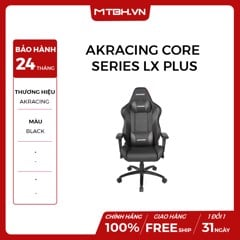 GHẾ AKRACING CORE SERIES LX PLUS GAMING BLACK