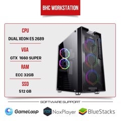 BHC WORKSTATION DUAL XEON E5 2689/ 32GB/512GB/GTX 1660 SUPER