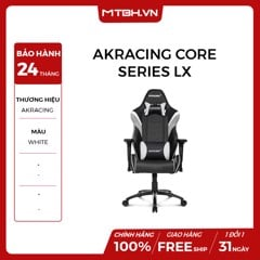 GHẾ AKRACING CORE SERIES LX GAMING WHITE