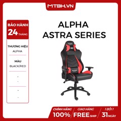 GHẾ ALPHA GAMER GAMING CHAIR ASTRA SERIES - MÃ AGASTRA-BK-R (Black/Red)