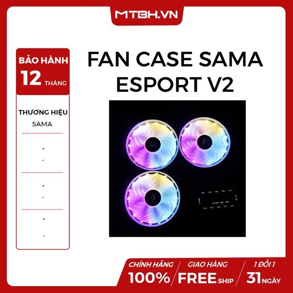 FAN CASE SAMA ESPORT V2 RGB FAN KIT 3PCS (REMOTE)