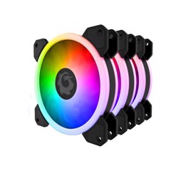 FAN CASE FORGAME CATEYE RGB FAN KIT 3PCS (HUB+REMOTE)