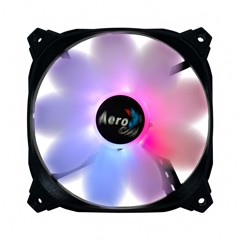 FAN CASE AEROCOOL PULSE 120mm, Fan 9 Cánh Siêu êm, Chống rung, LED RGB ( Addressable RGB, RGB SYNC With motherboard/ RGB Water Cooler PWM )