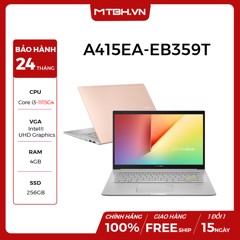 LAPTOP ASUS VIVOBOOK A415EA-EB359T i3-1115G4 | 4GB RAM | 256GB SSD | 14''FHD | WIN 10 | Hearty Gold