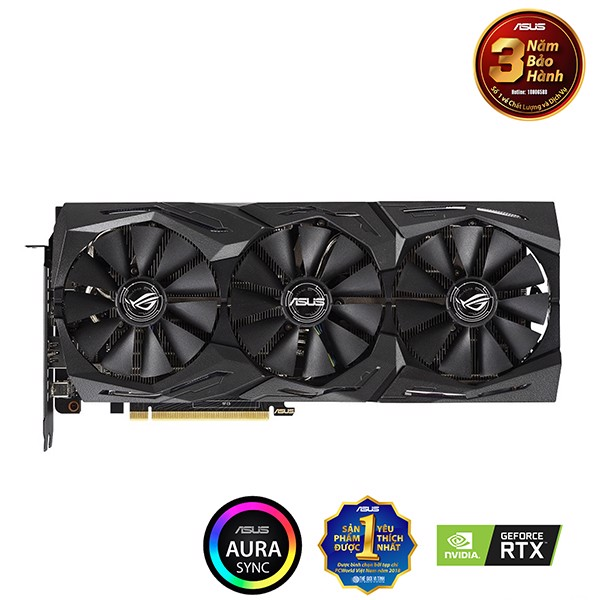 VGA ASUS RTX 2070 8GB (ROG-STRIX-RTX2070-O8G-GAMING)