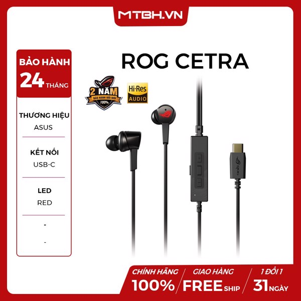 TAI NGHE ASUS ROG CETRA ( IN EAR )