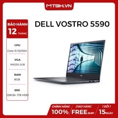 LAPTOP DELL VOSTRO 5590 HYXT91 i5-10210U | 128 SSD | 1TB HDD | 8GB RAM | 15.6 FHD | WIN 10