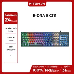 BÀN PHÍM CƠ E-DRA EK311 RED SWITCH BLACK NEW