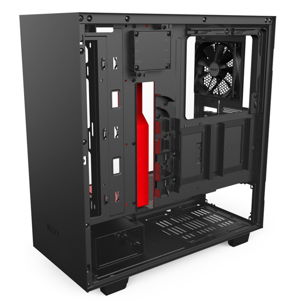 CASE NZXT H500i BLACK/RED