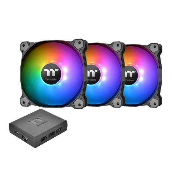 FAN CASE THERMALTAKE Pure Plus 12 RGB Radiator (3Fan + Hub)