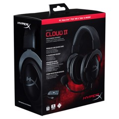 TAI NGHE KINGSTON HYPERX CLOUD II GUN METAL