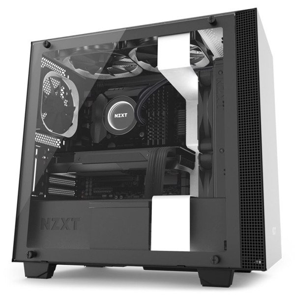 CASE NZXT H400i SMART MATX BLACK/WHITE