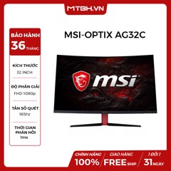 LCD MSI 32 INCH CONG OPTIX AG32C CURVED FHD - 165HZ