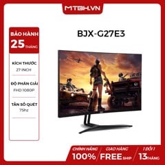 MÀN HÌNH BJX G27E3 27 INCH CONG 75HZ GAMING  ( PANEL SAMSUNG PLS, EYE CARE, AMD FREESYNC, CURVED 1800R, LED RGB, FHD )