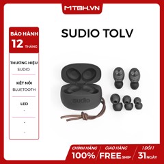 TAI NGHE TRUE WIRELESS SUDIO TOLV BLACK NEW