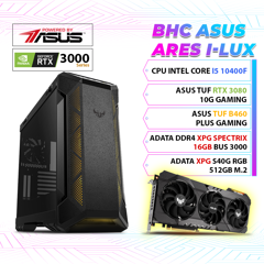 BHC ASUS ARES I - LUX ( I5 10400F / 16GB / 512GB /RTX 3080) GEN 10