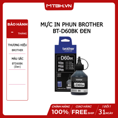 MỰC IN PHUN BROTHER BT-D60BK ĐEN