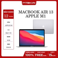 APPLE MACBOOK AIR 13 (MGN93SA/A) Apple M1 | 8GB RAM | 256GB SSD| 13.3 inch IPS | MacOS | BẠC | HÀNG CHÍNH HÃNG