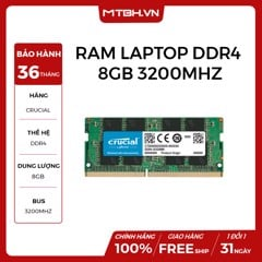 RAM LAPTOP DDR4 8GB CRUCIAL BUSS 3200 NEW