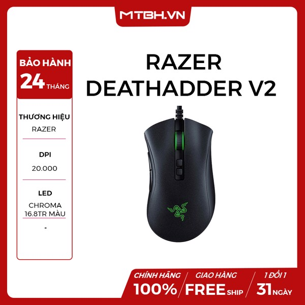CHUỘT RAZER DEATHADDER V2 GAMING NEW