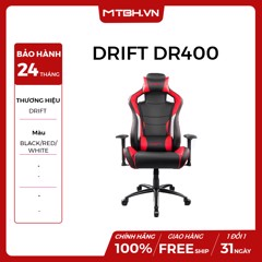 GHẾ GAMING DRIFT DR400 BLACK/RED/WHITE